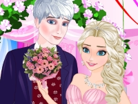 Флеш игра Эльза и Ледяной Джек женятся