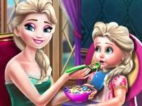Флеш игра Эльза кормит малыша