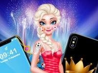 Флеш игра Эльза украшает смартфон