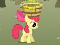 Флеш игра Эпплджек собирает яблоки