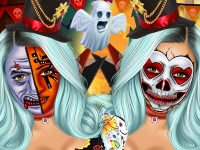 Флеш игра Фейс арт для Кайли Дженнер на Хэллоуин