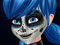 Флеш игра Фейс арт для Леди Баг на Хэллоуин