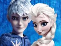 Флеш игра Фигурное катание Эльзы и Ледяного Джека