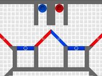 Флеш игра Физика цветных шаров