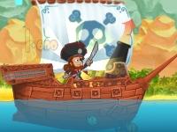Флеш игра Форт Бластер: стрельба с пиратского судна
