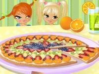 Флеш игра Фруктовая пицца на десерт