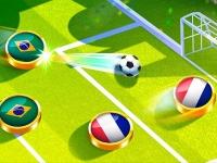 Флеш игра Футбол крышками