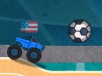 Флеш игра Футбол на грузовике монстре