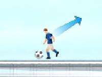 Флеш игра Футбол на линии горизонта