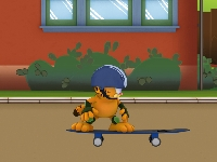 Флеш игра Гарфилд на скейтборде