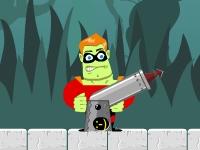 Флеш игра Герой с пушкой