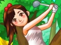Флеш игра Гольф с препятствиями