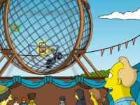 Флеш игра Гомер Симпсон в шаре смелости
