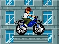 Флеш игра Гонка Бена 10 по крышам