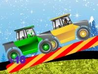 Флеш игра Гонка Деда Мороза на грузовике