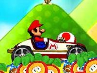 Флеш игра Гонка Марио на авто