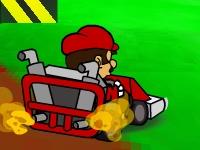 Флеш игра Гонка Марио в Грибном королевстве