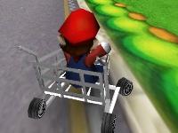 Флеш игра Гонка Марио в тележке