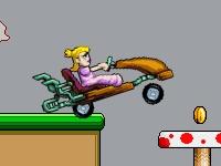 Флеш игра Гонка красотки на автомобиле