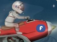 Флеш игра Гонка на байке в космосе