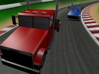 Флеш игра Гонка на больших грузовиках