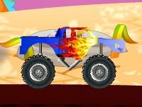 Флеш игра Гонка на больших колесах