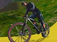 Флеш игра Гонка на горном велосипеде 3D