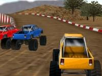 Флеш игра Гонка на грузовиках 3D на двоих