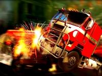 Флеш игра Гонка на грузовике 3D