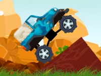 Флеш игра Гонка на грузовике монстре