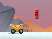 Флеш игра Гонка на грузовике с препятствиями