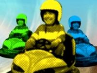 Флеш игра Гонка на картах на автодроме