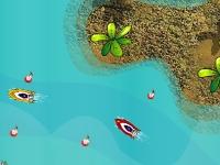 Флеш игра Гонка на катерах вокруг острова