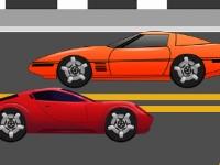 Флеш игра Гонка на красной машине