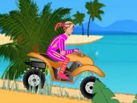 Флеш игра Гонка на квадроцикле по пляжу