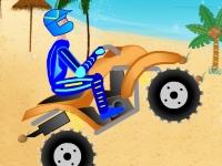 Флеш игра Гонка на квадроцикле в тропиках