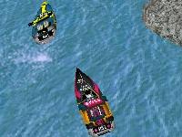 Флеш игра Гонка на моторных лодках