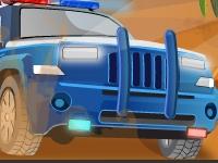 Флеш игра Гонка на полицейском джипе по бездорожью