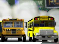 Флеш игра Гонка на школьных автобусах