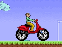 Флеш игра Гонка на скутере