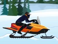 Флеш игра Гонка на снегоходе