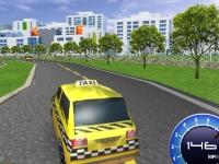 Флеш игра Гонка на такси 3D