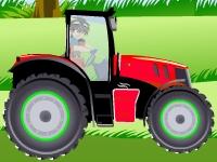 Флеш игра Гонка на тракторе бакуган