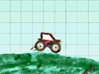 Флеш игра Гонка на тракторе в тетрадке