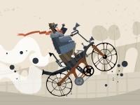 Флеш игра Гонка на велосипеде с моторчиком
