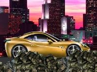 Флеш игра Гонка по камням на спортивном авто