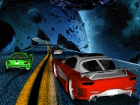 Флеш игра Гонка по шоссе в космосе
