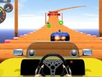Флеш игра Гонка по воздушной дороге