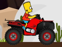 Флеш игра Гонка с Бартом Симпсоном на квадроцикле