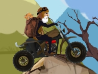 Флеш игра Гонка с котом на квадроцикле